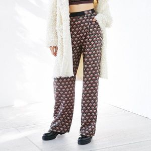 Silence + Noise Lara Print Puddle Trousers 2